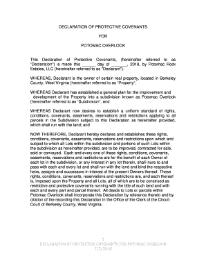 Fillable Online HOA documents - Potomac Overlook Estates Fax
