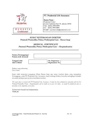 Surat Keterangan Rawat Inap Fill Online Printable