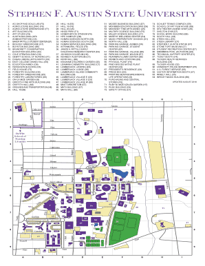 Fillable Online Campus Map Stephen F Austin State University Fax