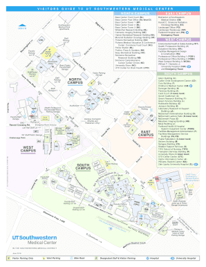 Fillable Online Campus Map - UT Southwestern Fax Email Print ...