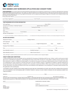 Fillable Online form-0004-b-joint-borrower-credit-application-non