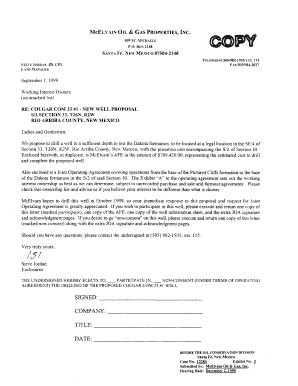 Fillable Online MCELVAIN OIL & GAS PROPERTIES, INC Fax Email Print
