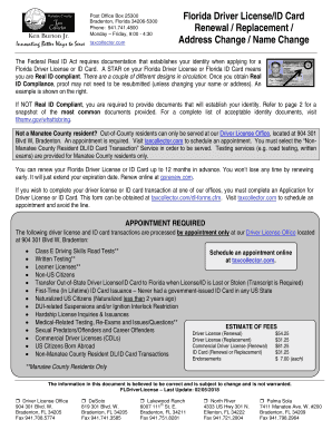 change name and address on drivers license florida
