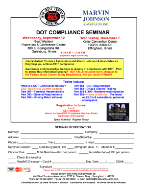 dot compliance seminar - Mid-West Truckers Association