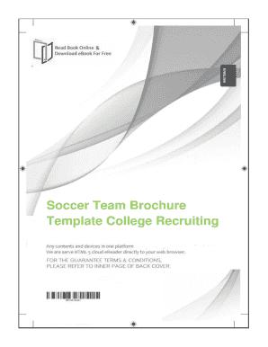 soccer team brochure template