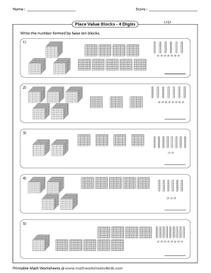 image about Place Value Blocks Printable referred to as printable foundation 10 blocks template - Edit On-line, Fill