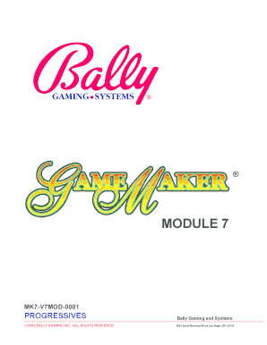 buying cheap clearance prices recognized brands Fillable Online Bally Gaming and Systems Fax Email Print ...