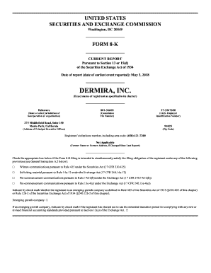 Fillable Online DERMIRA, INC Fax Email Print - PDFfiller
