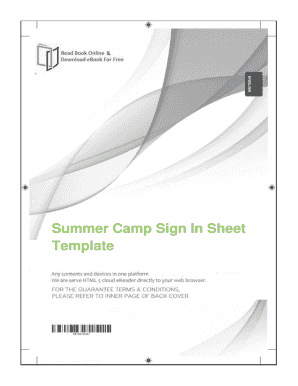 Fillable Online Free Download Summer Camp Sign In Sheet Template