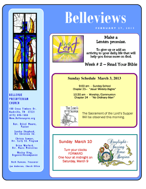 Fillable Online Feb 27 Newsletter - bellevuepres com Fax