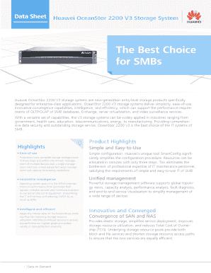 Fillable Online Huawei OceanStor 2200 V3 Storage System Data