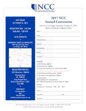 Fillable Online 2018 NCC Information Seminars Australian
