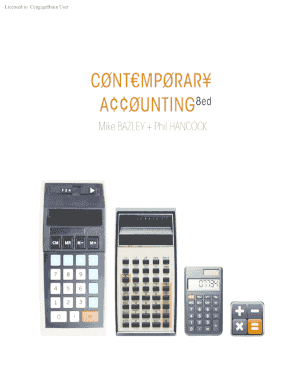Fillable online contemporary accounting 8th ed australia rate this form fandeluxe Image collections