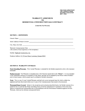 16 Printable residential construction contract Forms and