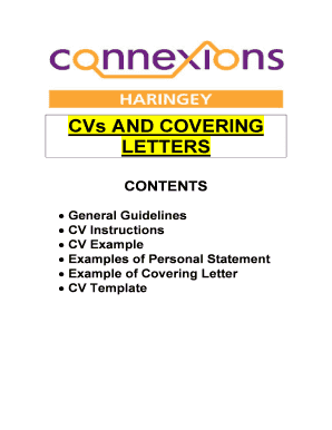 CVs and Covering Letters booklet - Haringey Youth Space - youthspace haringey gov