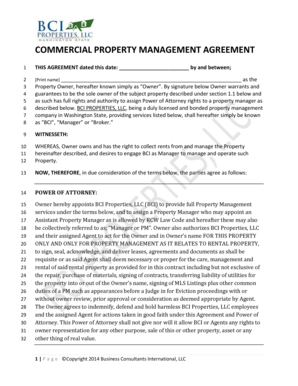 commercial property management agreement pdf