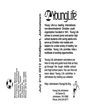 Midsummer Madness Brochure - 21 July 2012 - Young Life Greater  - johnstown younglife