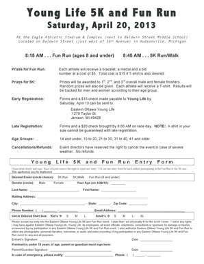 EOYL 5K Entry Form 2013.pdf - Eastern Ottawa Young Life - eo younglife