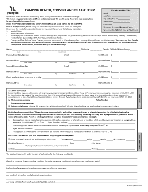 Young Life Camp Health Form - Fill Online, Printable, Fillable ...