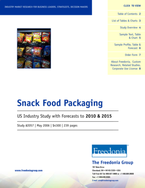 Snack Food Packaging - The Freedonia Group