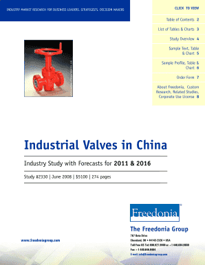 Industrial Valves in China - The Freedonia Group