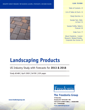 Landscaping Products - The Freedonia Group