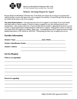 FGA026 Appeal Form--WNY - BlueCross BlueShield of Western ...