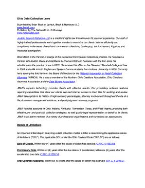 Fillable ohio judgment lien statute of limitations Templates