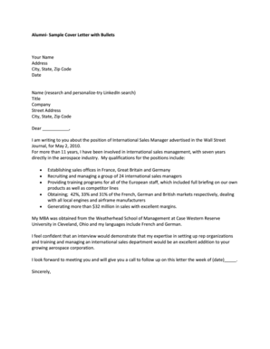 Sample Cover Letter - Case Western Reserve University