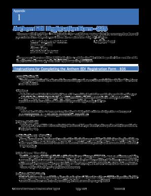 Fillable Online Anthem EDI Registration Form - 835 - Office Ally Fax