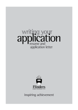 Writing Your Application - Resume and Application Letter - Flinders ...