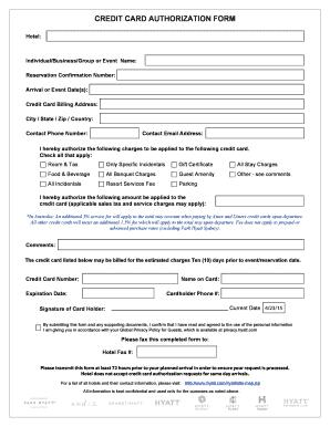 Ramada Inn Credit Card Authorization Form - Fill Online, Printable ...