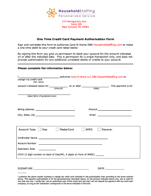Credit Card Payment Authorization Template 3 Forms and Templates ... Fill Now · Credit Card Payment Authorization Form ...