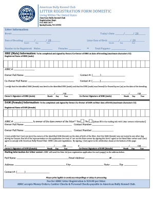 Akc Duplicate Registration - Fill Online, Printable, Fillable ...