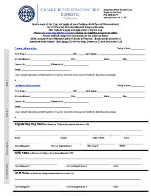 animal care program license registration application