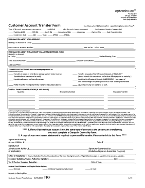 Fillable Online Customer Account Transfer Form (ACAT ...