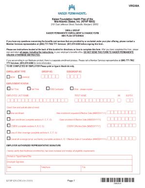 kaiser broker net Fillable Online brokernet kp Kaiser fillable enrollment change form ...