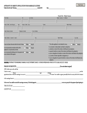 Tdcj Marriage Informal - Fill Online, Printable, Fillable