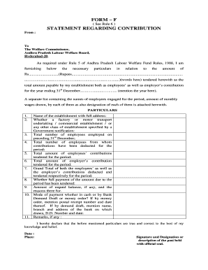 Labour Welfare Fund Forms Download - Fill Online, Printable