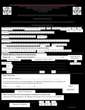 Fillable Online arrt Duplicate exam score report - The
