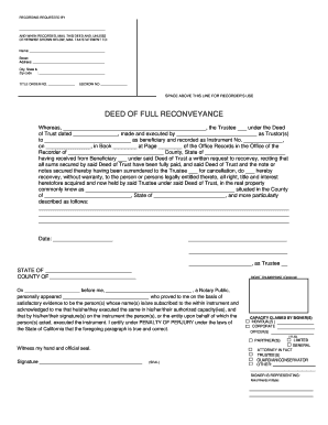Deed of Full Reconveyance Form - sbcvote
