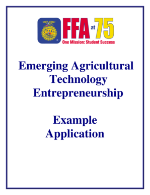 fillable online ffa emerging agricultural technology