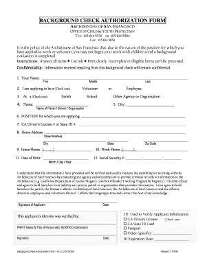 fillable online athletics cccyo background check authorization form