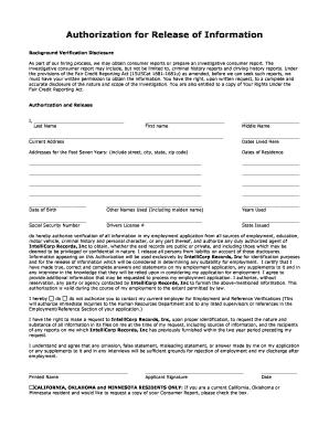 18 Printable Background Check Form Pdf Templates
