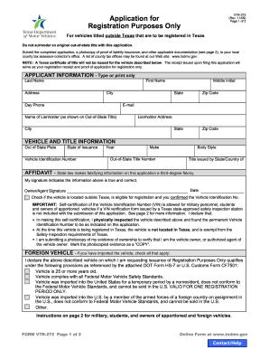 Vtr 272 Form - Fill Online, Printable, Fillable, Blank | PDFfiller