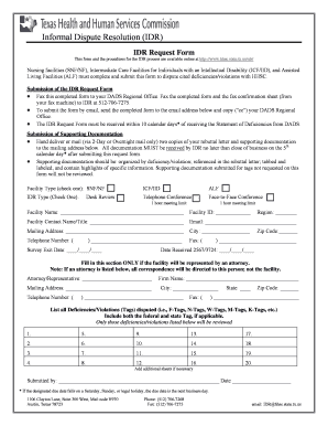 Idr Fill Form - Fill Online, Printable, Fillable, Blank | PDFfiller