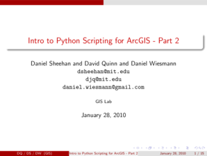 Fillable Online projects urbmet Intro to Python Scripting for ArcGIS