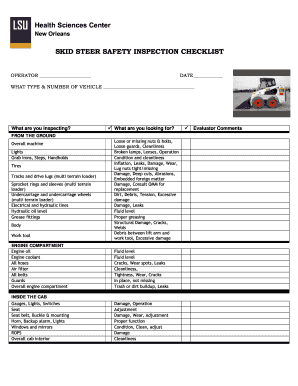 Bobcat Checklist Forms Fill Online Printable Fillable Blank Pdffiller
