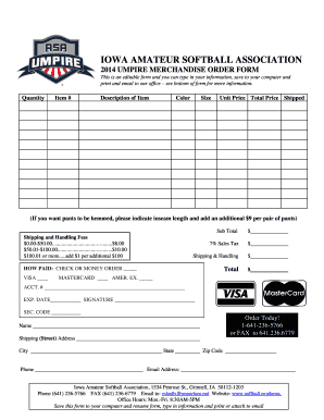 Fillable Online 1996 IOWA AMATUER SOFTBALL ASSOCIATION - ASA