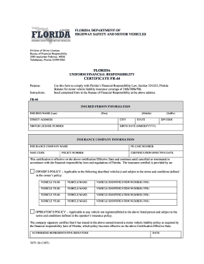 Fr44 Insurance Application Form - Fill Online, Printable ...